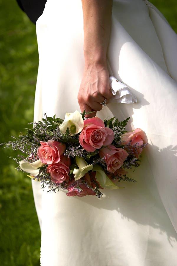 Het boeket van bruiden stock foto