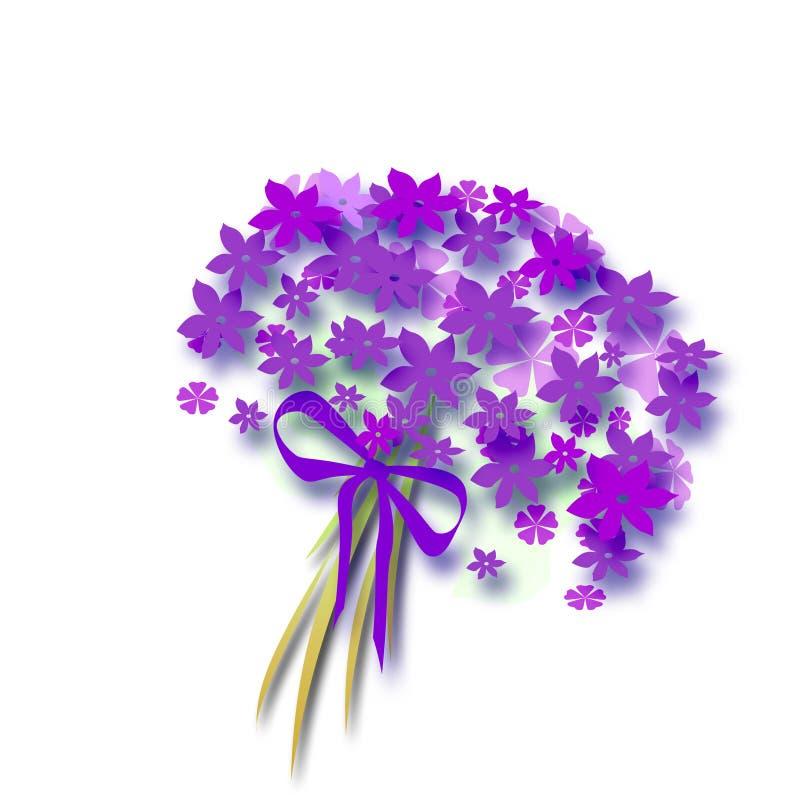 Het boeket van de bloem met boog royalty-vrije illustratie