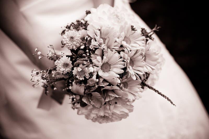 Het boeket van het huwelijk met dille royalty-vrije stock foto