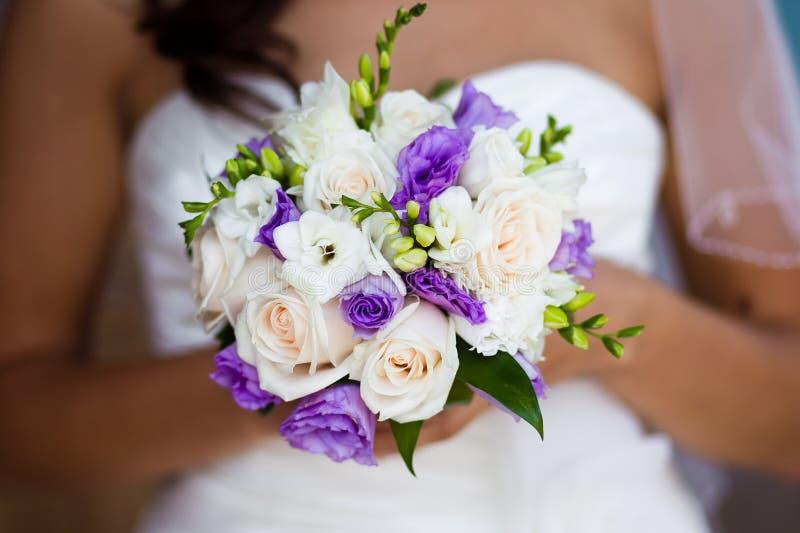 Het boeket van het huwelijk van de bruid royalty-vrije stock fotografie