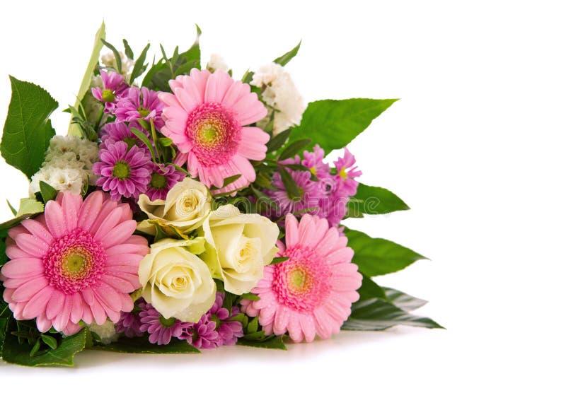 Het boeket van verjaardagsbloemen stock foto's