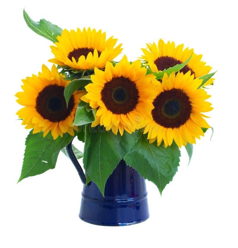 Het boeket van zonnebloemenbloemen stock afbeeldingen
