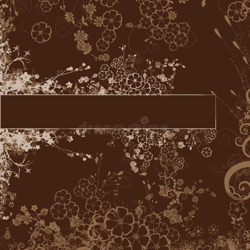Het boeketachtergrond van de bloem vector illustratie
