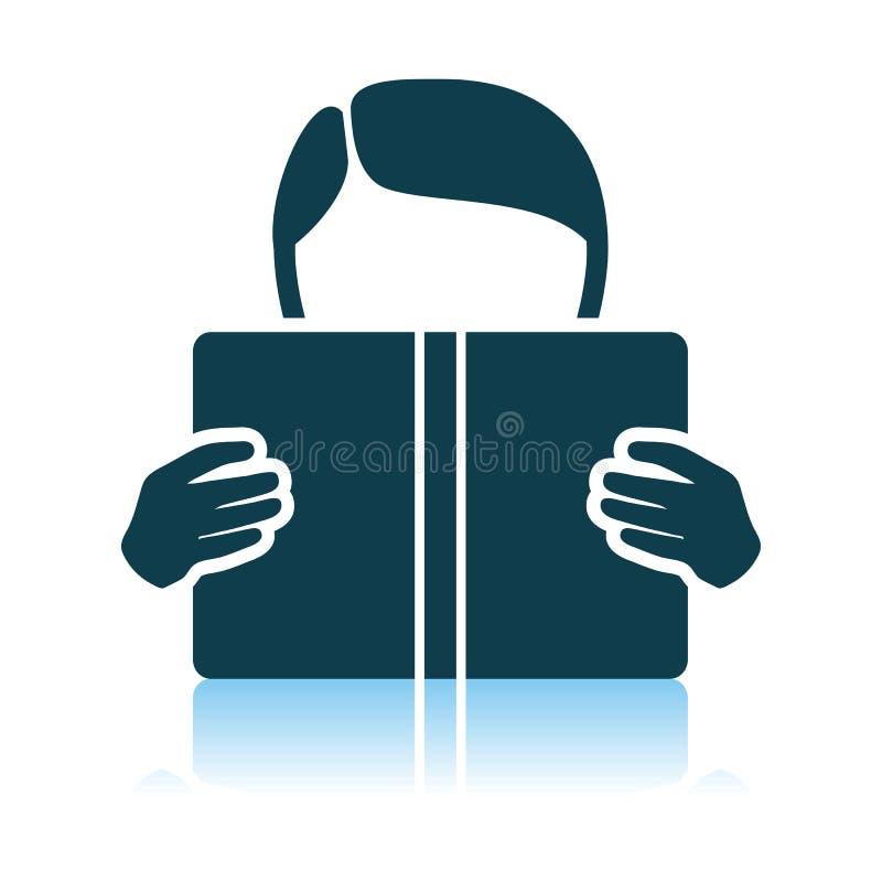 Het boekpictogram van de jongenslezing vector illustratie