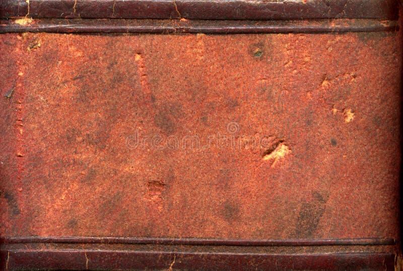 Het boekstekel van het leer royalty-vrije stock afbeeldingen