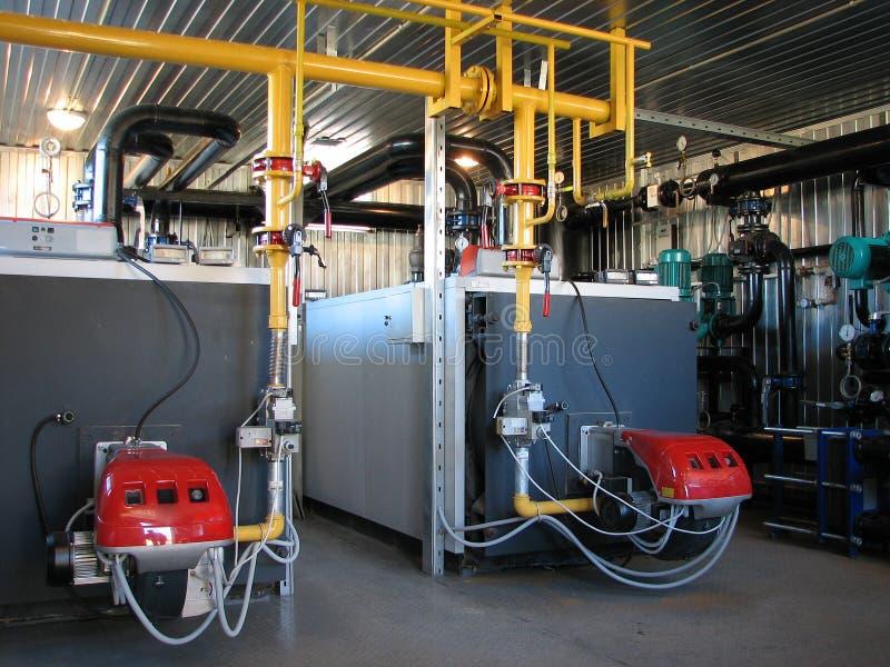 Het boiler-huis van het gas stock foto