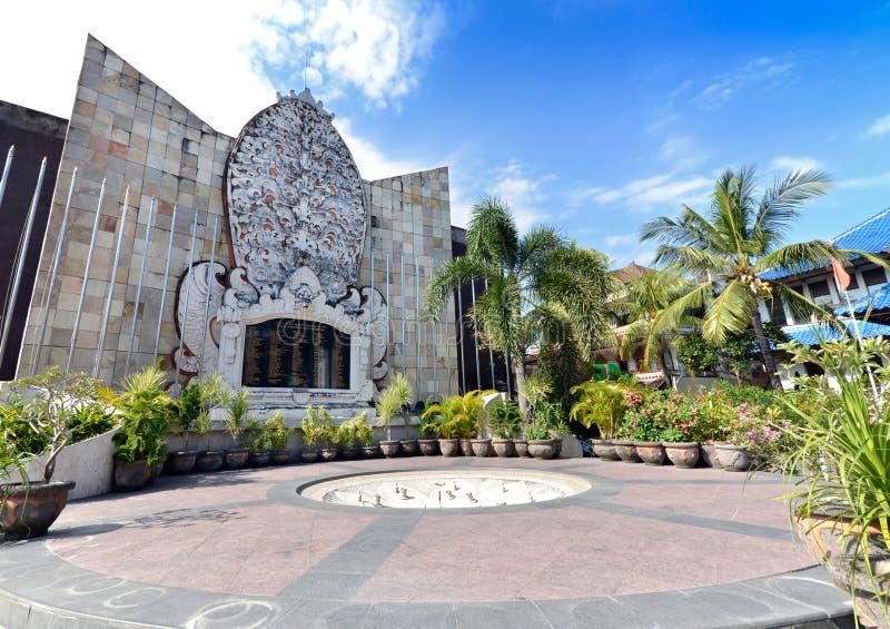 Het bombarderende gedenkteken van Bali stock foto's