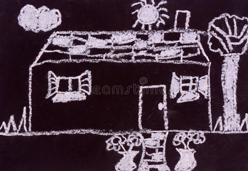 Het bord van het kind het schilderen vector illustratie