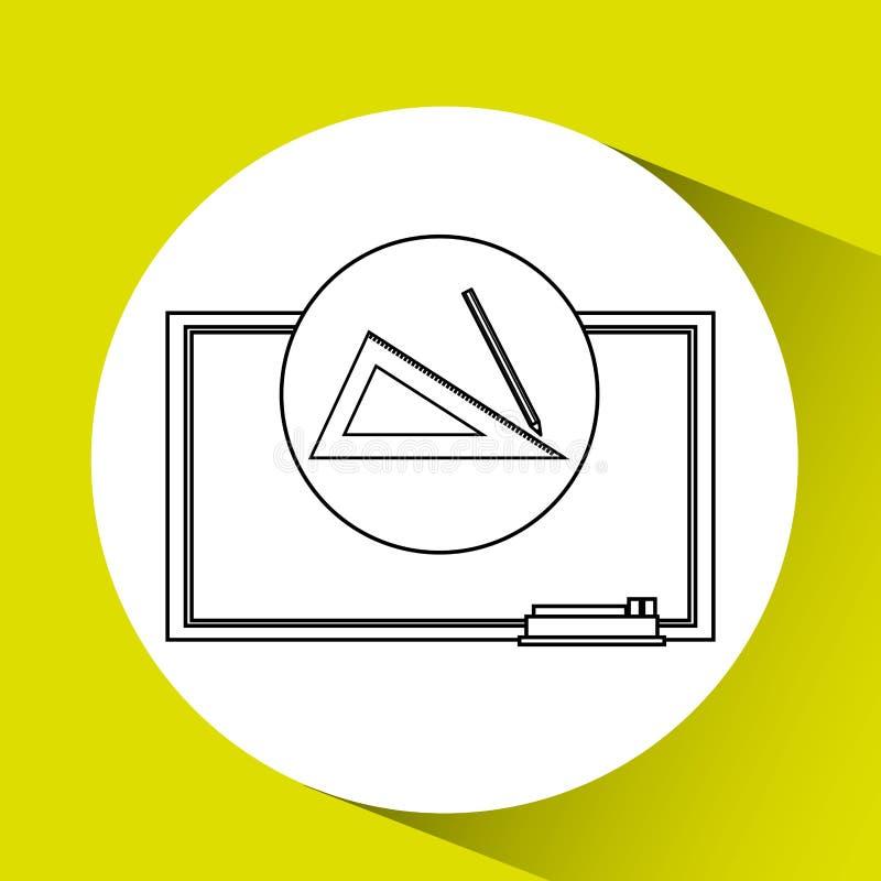 Het bord van het onderwijsconcept met meetkunde vector illustratie