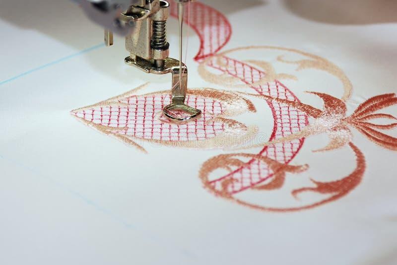Het borduurwerk van de machine stock afbeeldingen