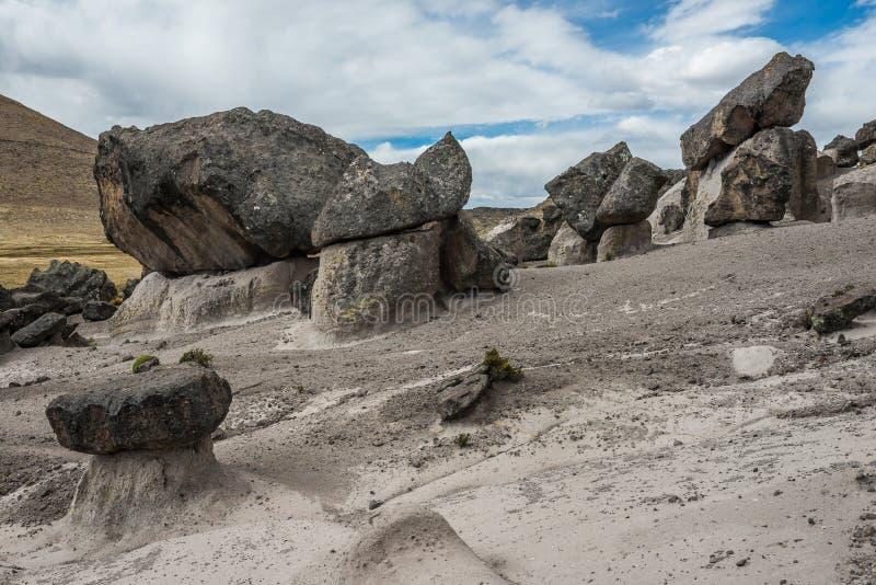 Het Bos van de Imatasteen in de Peruviaanse Andes Arequipa Peru stock foto