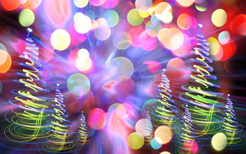 Het bos van de Kerstmiskleur royalty-vrije stock afbeeldingen