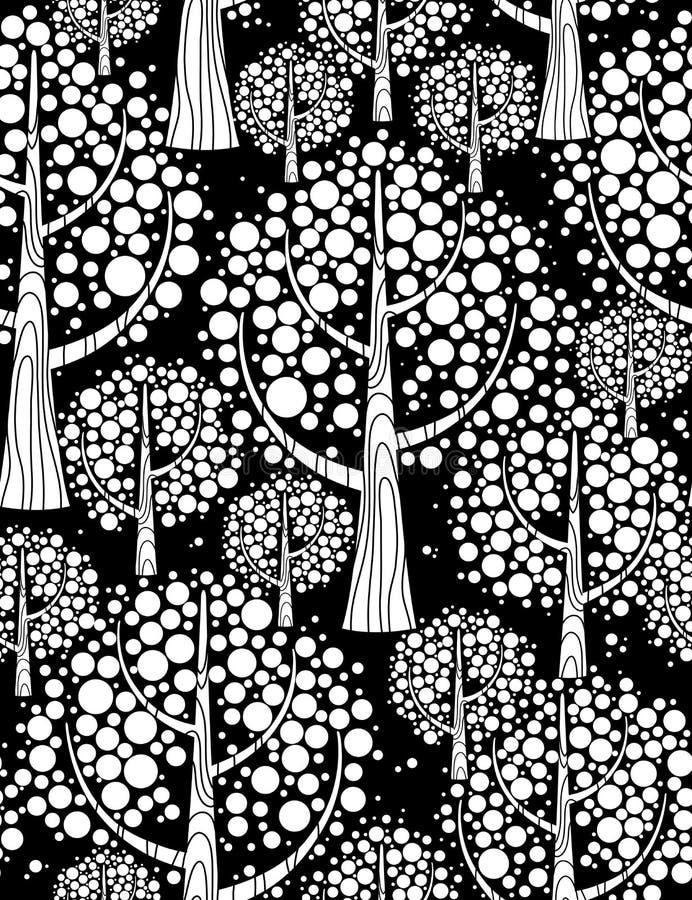 Het bos van de winter. Naadloze achtergrond. stock illustratie