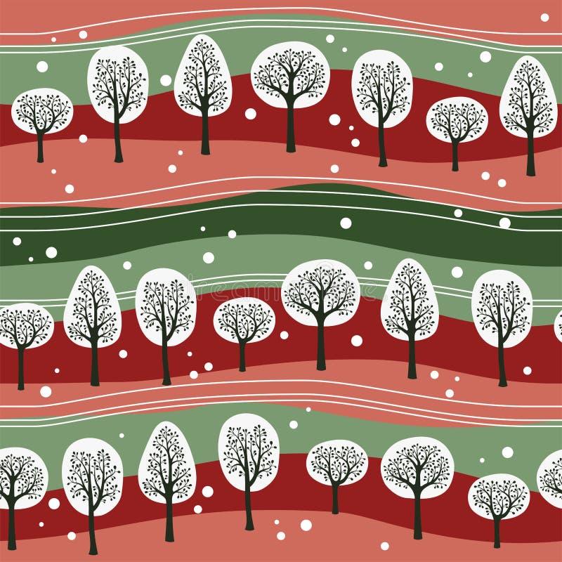Het bos van Kerstmis royalty-vrije illustratie