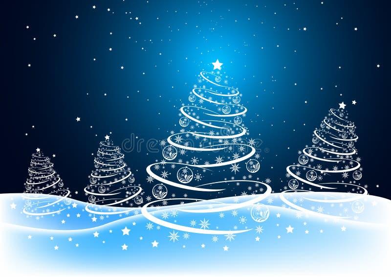 Het Bos van Kerstmis stock illustratie
