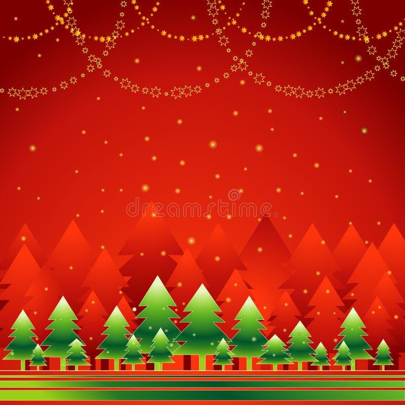 Het bos van Kerstmis, vector royalty-vrije illustratie