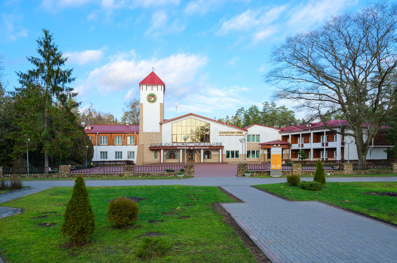 Het Bos van restaurantbialowieza in Kamenets-district van het gebied van Brest, Wit-Rusland royalty-vrije stock foto's