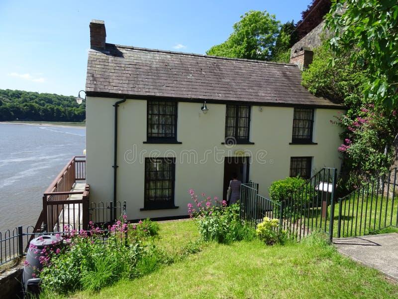Het botenhuis van Dylan Thomas in Laugharne, Wales royalty-vrije stock foto's