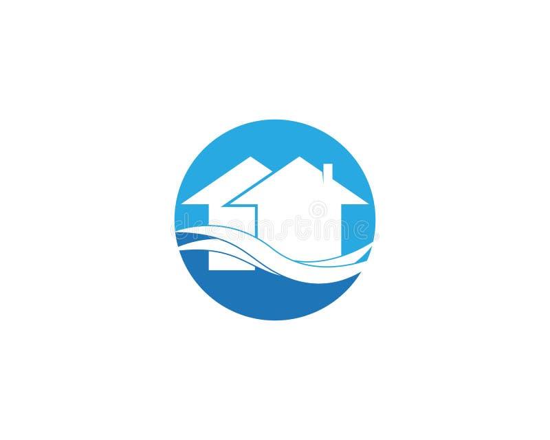Het bouwmalplaatje van het huisembleem royalty-vrije illustratie