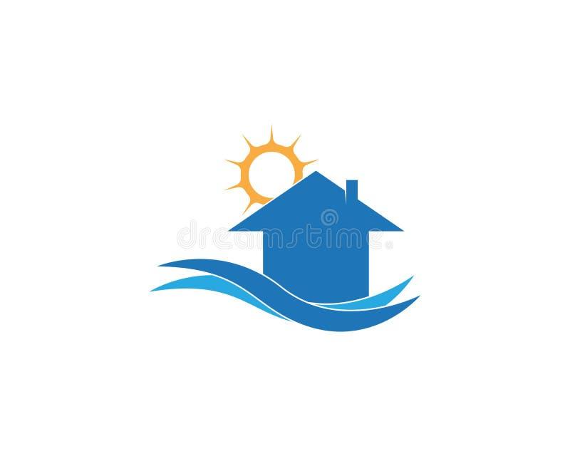 Het bouwmalplaatje van het huisembleem vector illustratie