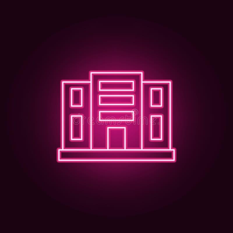 Het bouwpictogram van het flatsneon Elementen van Real Estate-reeks Eenvoudig pictogram voor websites, Webontwerp, mobiele toepas vector illustratie