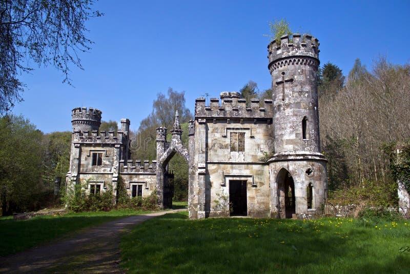 Het Bovenleer van de Torens van Ballysaggartmore stock fotografie