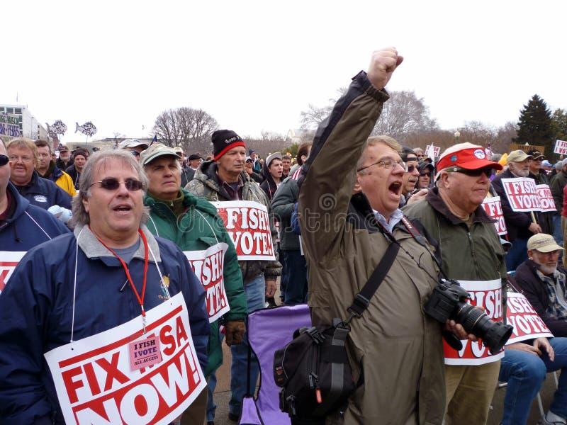 Het boze Protest van de Visserij bij het Kapitaal royalty-vrije stock fotografie