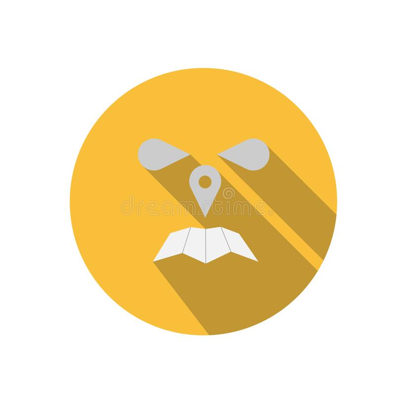 Het boze van het het pictogramsymbool van het placemarkteken vlakke grafische symbool stock afbeeldingen