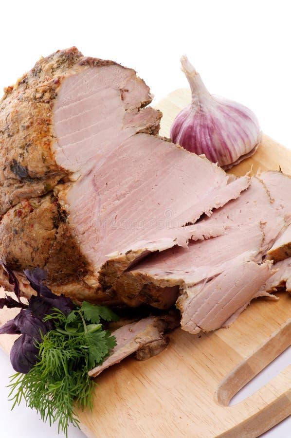 Het Braadstuk en de Plakken van het varkensvlees stock fotografie