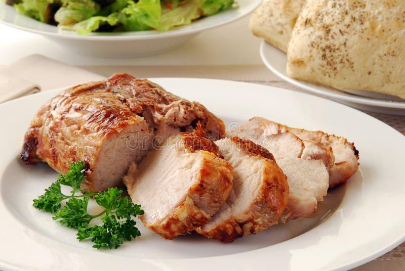 Het Braadstuk van het Lendestuk van het varkensvlees stock afbeelding
