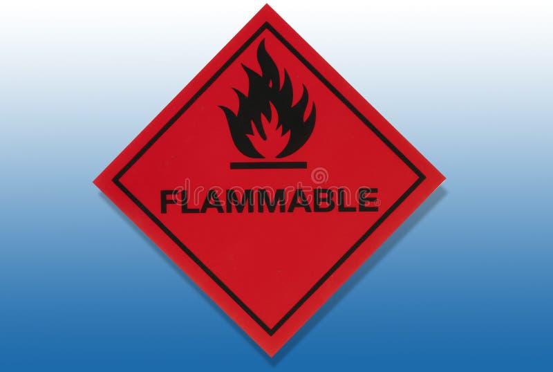 Het Brandbare Waarschuwingssein van het gevaar - stock illustratie