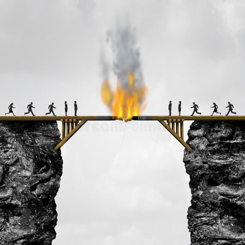 Het branden Bruggenconcept vector illustratie