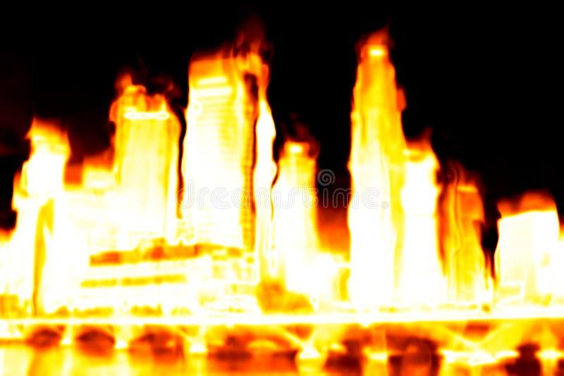 Het branden de Apocalyps van de Stad stock illustratie