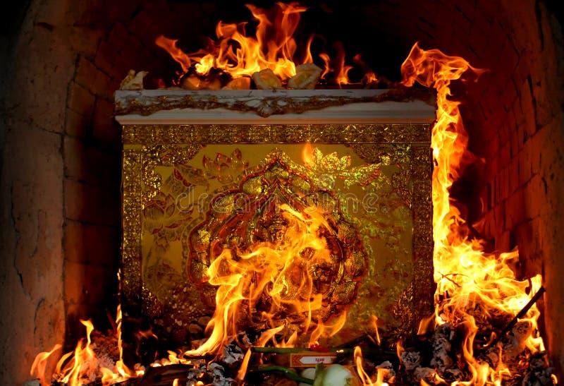 Het branden de cultuur van doodskistthailand royalty-vrije stock afbeeldingen