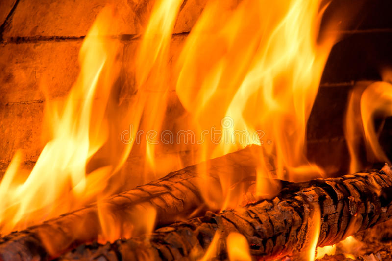 Het branden firewoods royalty-vrije stock afbeelding