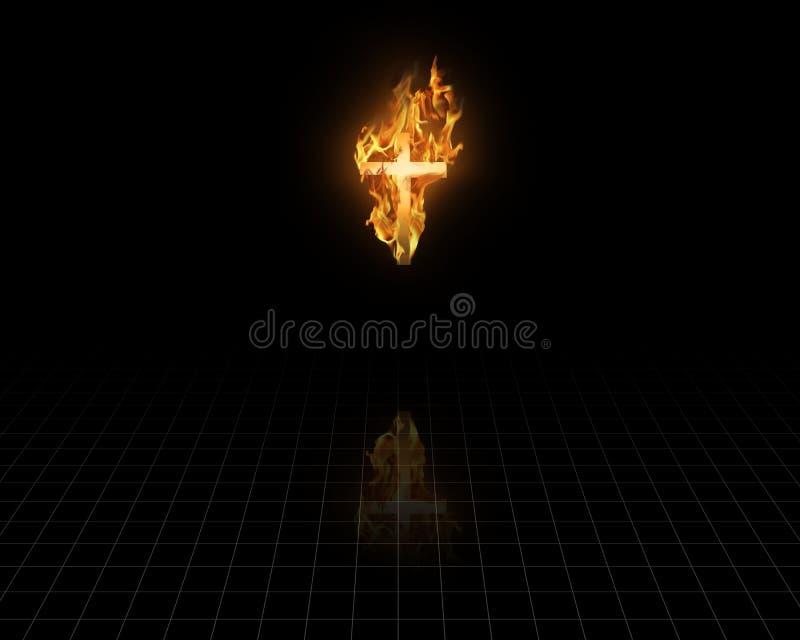 Het branden Geloof stock illustratie