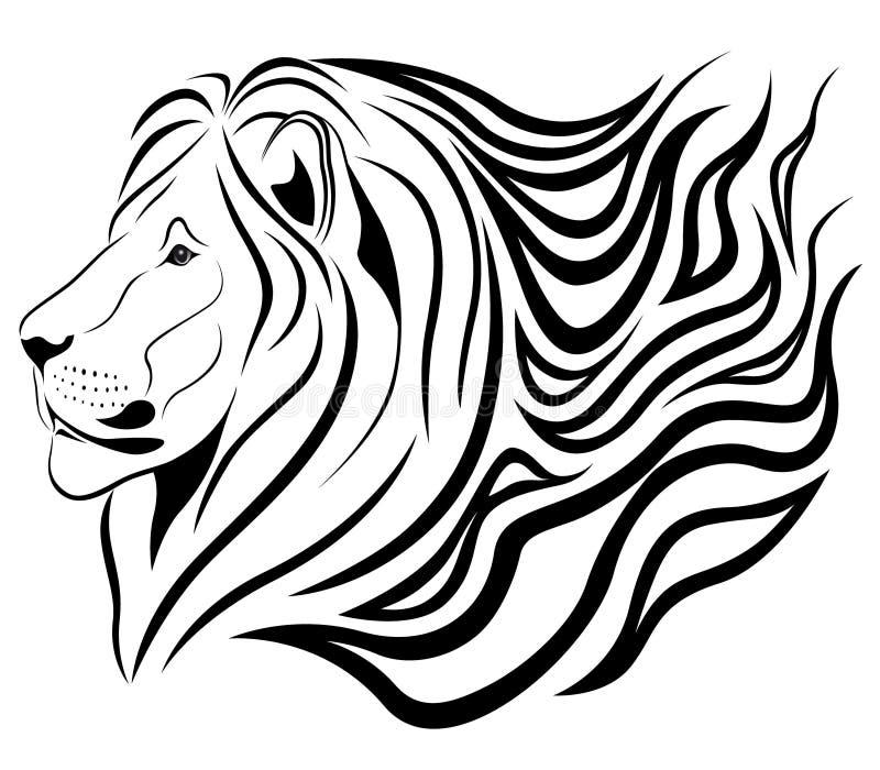 Het branden leeuw stock illustratie