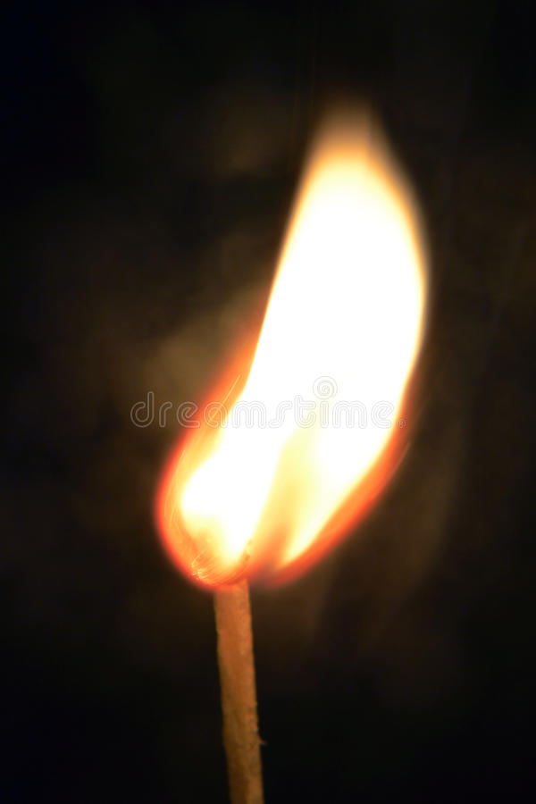 Het branden Matchstick royalty-vrije stock foto