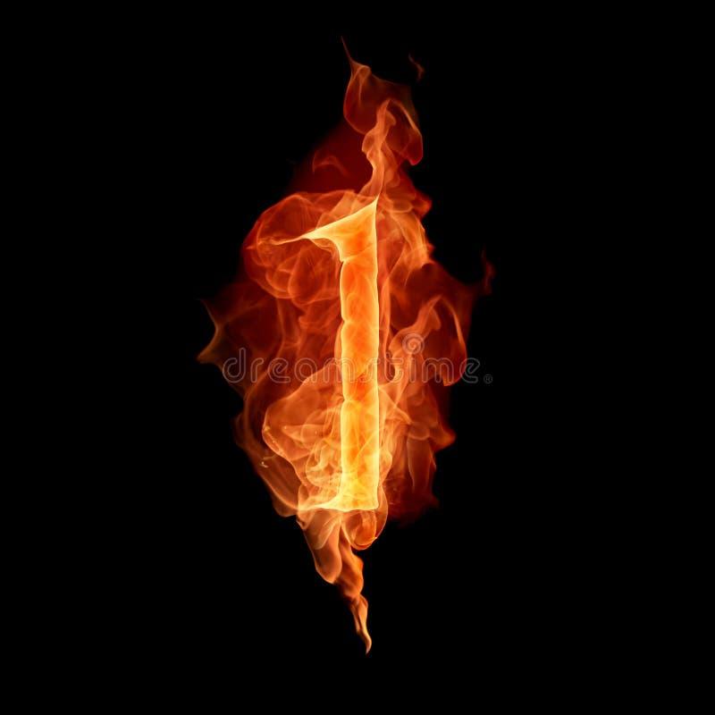 Het branden nummer 1 stock illustratie