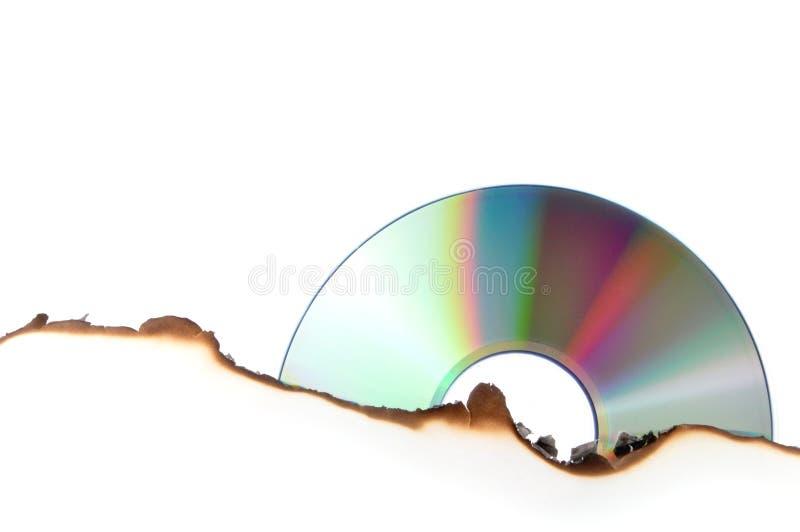 Het branden van CD stock foto