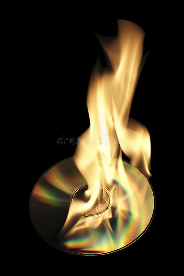 Het branden van CD royalty-vrije stock afbeeldingen