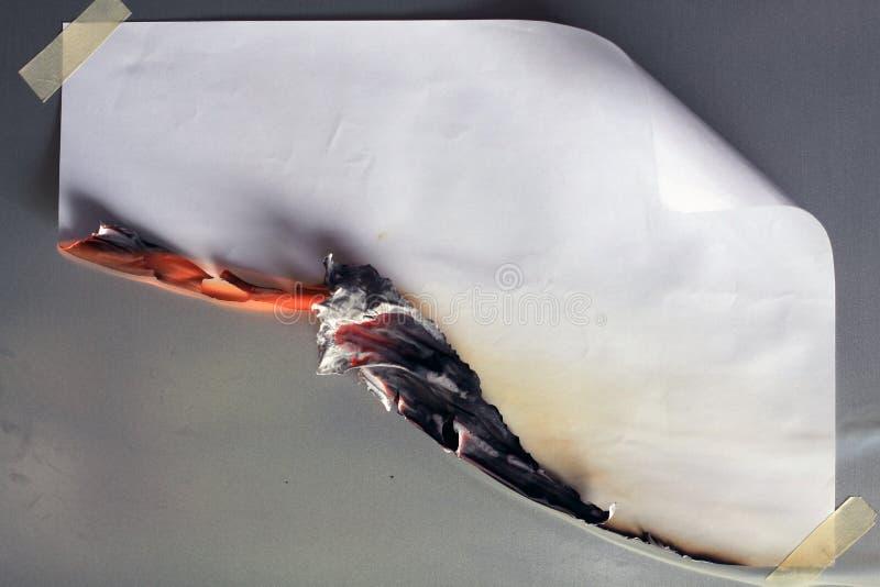 Het branden van het document stock foto's