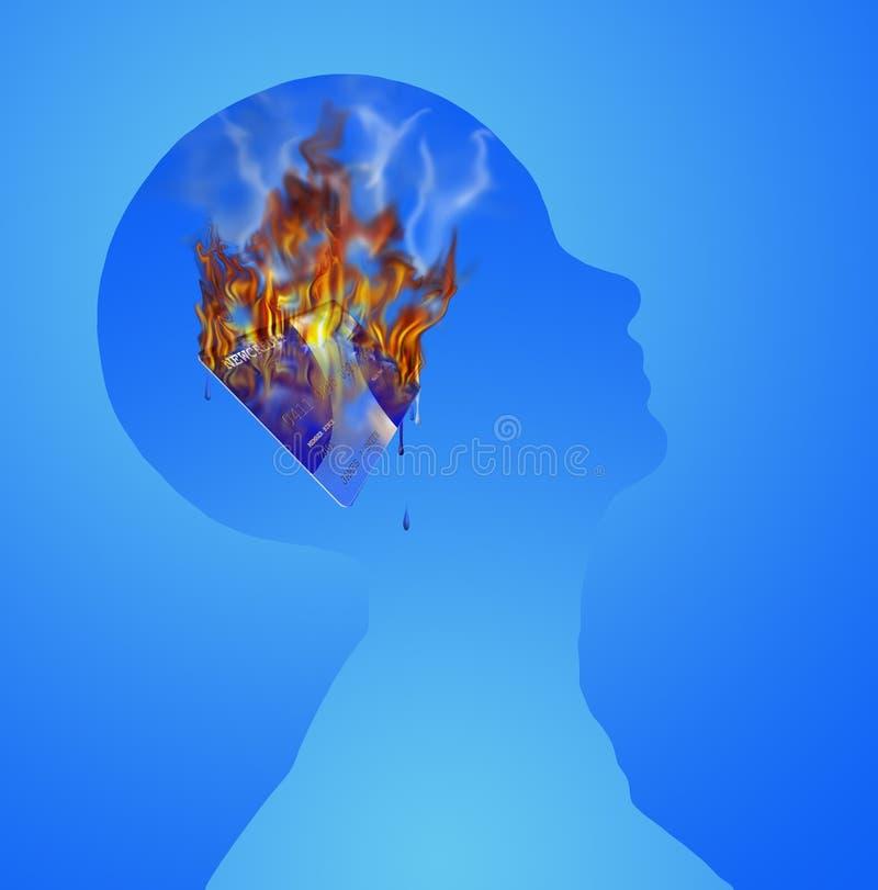 Het branden van het krediet fantasie royalty-vrije illustratie