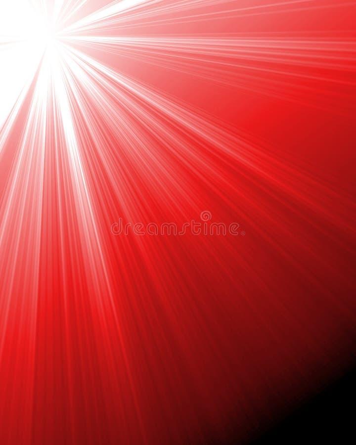 Het branden van rode zon