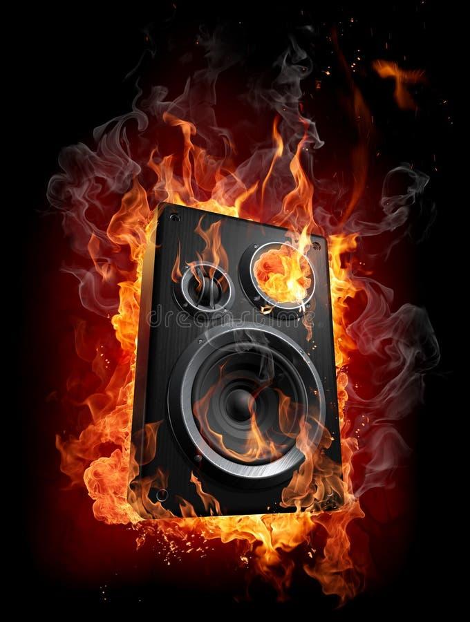Het branden van spreker royalty-vrije illustratie