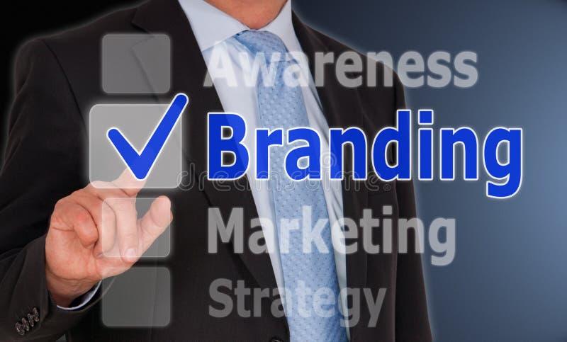 Het brandmerken bedrijfsconcept stock afbeelding