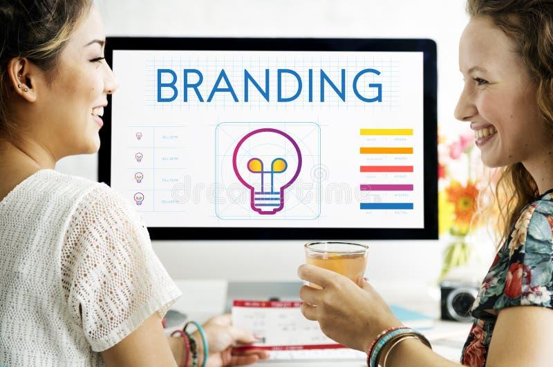 Het brandmerken Creatieve de Innovatie inspireert Concept stock foto's
