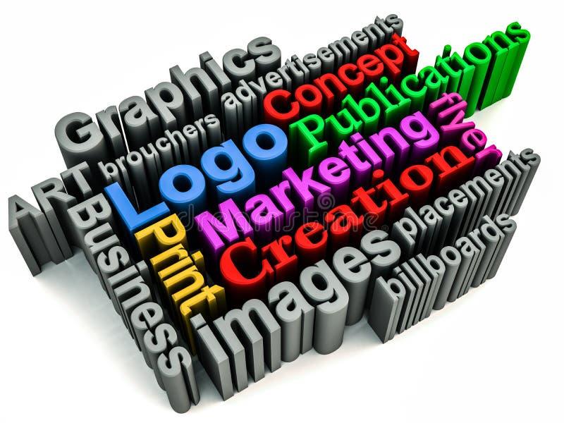 Het brandmerken van de grafiek concept royalty-vrije illustratie