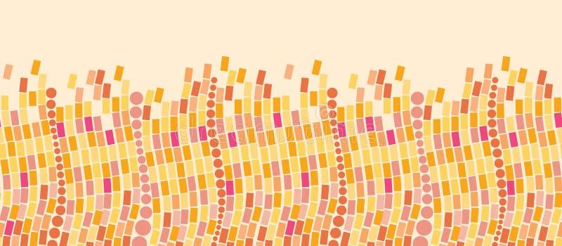 Het brandmozaïek betegelt horizontaal naadloos patroon royalty-vrije illustratie