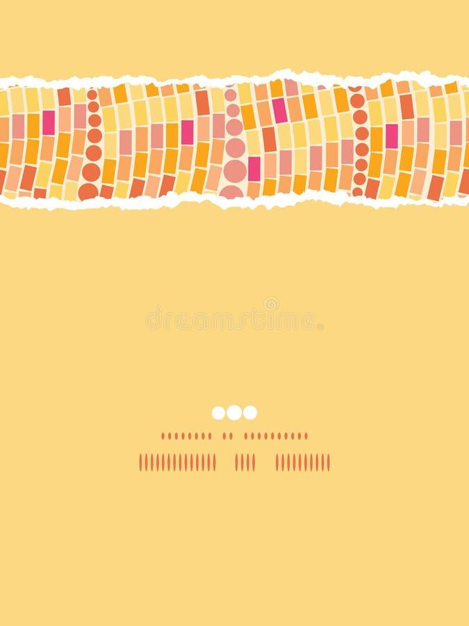 Het brandmozaïek betegelt naadloos verticaal gescheurd patroon stock illustratie